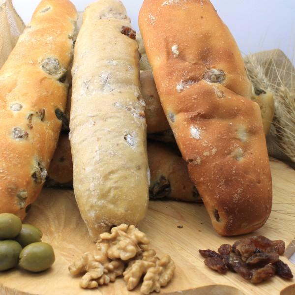 pane lungo cioccolato uvetta e olive maccalli